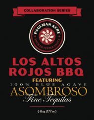 Los Altos Rojos BBQ (with AsomBroso Tequila) Label